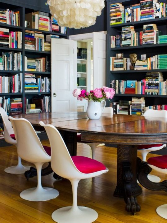 I love the idea of a library/ dining combo