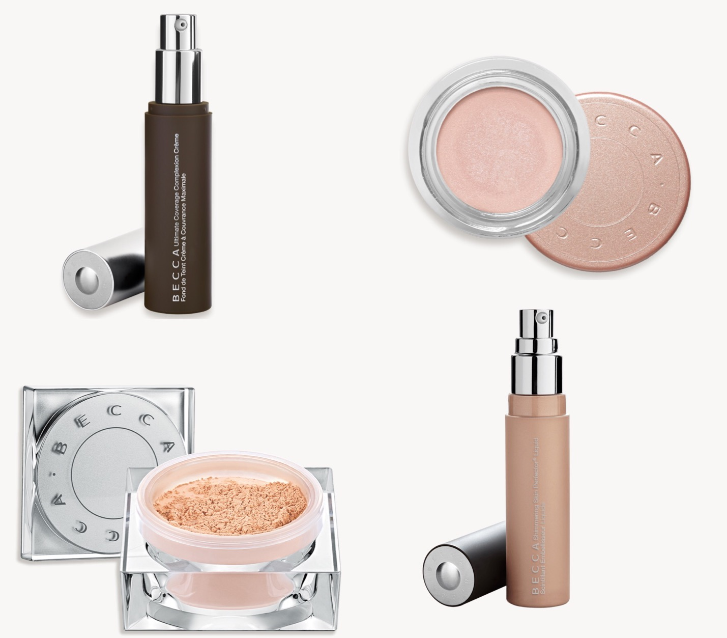 Cosmetics with a cul;t following- basically the entire becca line but the under eye brightened, liquid highlighter, and ultimate coverage foundation