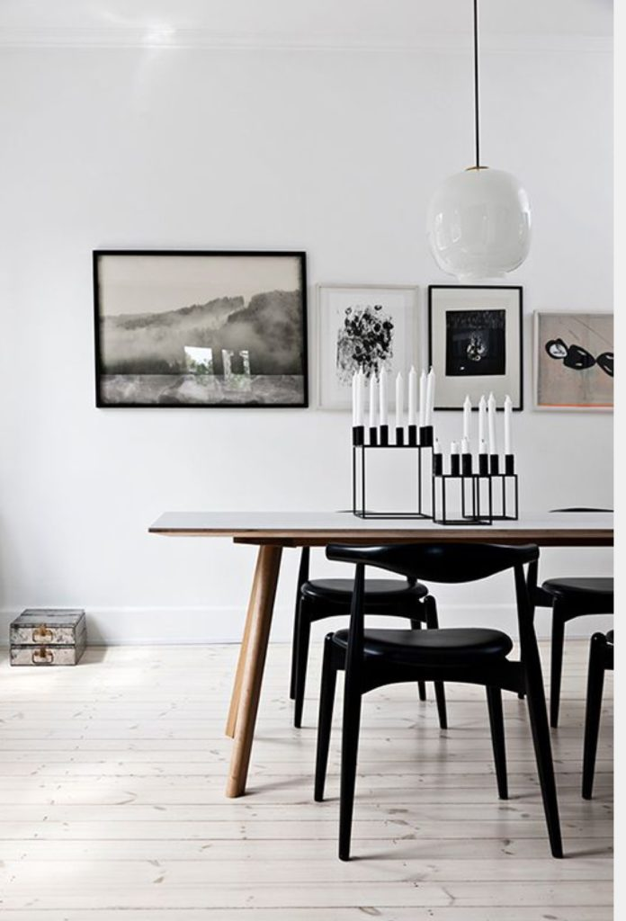 Use one funky object to create a Stunning dining room centerpiece