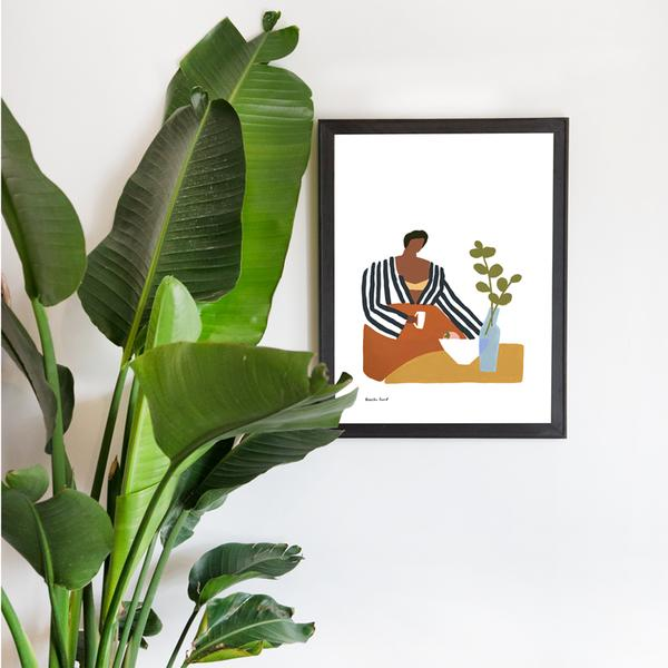 The Jungalow is a wonderful spot to find colorful bohemian and globally inspired prints. Image via the Jungalow. Art by Kenesha Sneed.